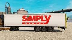 Pele Simplesmente de Mercado para reboques para Euro Truck Simulator 2