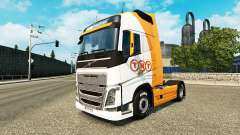 TNT pele para a Volvo caminhões para Euro Truck Simulator 2