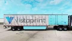Pele Vistaprint em uma cortina semi-reboque para American Truck Simulator