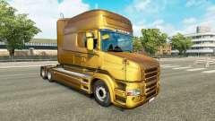 Metalizado pele para a Scania T caminhão para Euro Truck Simulator 2