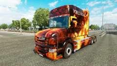 Chamas da pele para caminhão Scania T para Euro Truck Simulator 2