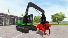 Escavadeira-colheitadeira oscila para Farming Simulator 2017