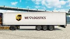 Pele de Logística UPS para reboques para Euro Truck Simulator 2