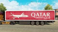 A Qatar Airways pele para reboques para Euro Truck Simulator 2