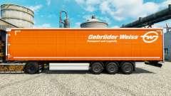 Pele Gebruder Weiss na semi para Euro Truck Simulator 2