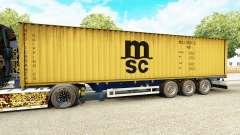 Semi-reboque-o navio de contentores MSC Remo Serviços para Euro Truck Simulator 2