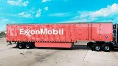 A pele da ExxonMobil em uma cortina semi-reboque para American Truck Simulator