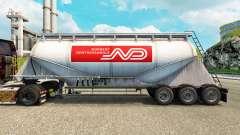 Pele Norbert cimento semi-reboque para Euro Truck Simulator 2