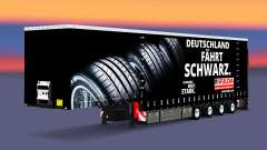 Krone cortina semi-reboque, em Fulda para Euro Truck Simulator 2