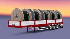 Mesa semi-reboque com cabo de carga para Euro Truck Simulator 2