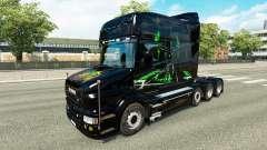 Pele Monster Energy v2 para o caminhão Scania T para Euro Truck Simulator 2
