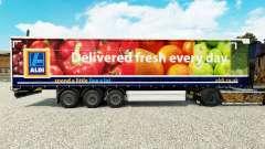 Pele Aldi Frescos em uma cortina semi-reboque para Euro Truck Simulator 2