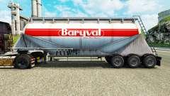 Pele Baryval semi-reboque de cimento para Euro Truck Simulator 2