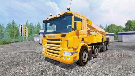 Scania P420 [concrete pump] para Farming Simulator 2015
