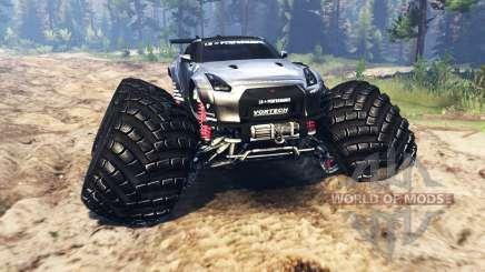 Nissan GT-R (R35) [monster truck] para Spin Tires