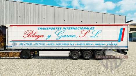 Pele Blaya Garcia y J. L. em uma cortina semi-re para Euro Truck Simulator 2