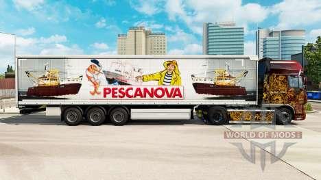 Pele Pescanova cortina semi-reboque para Euro Truck Simulator 2