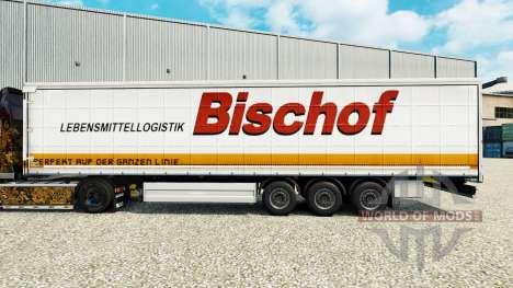 Pele Bischof em uma cortina semi-reboque para Euro Truck Simulator 2