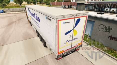 Pele Primafrio cortina semi-reboque para Euro Truck Simulator 2