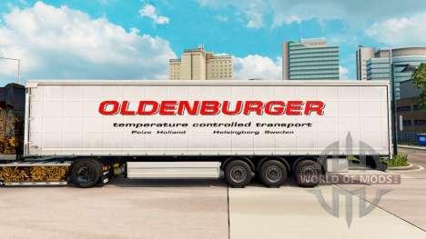 Pele Oldenburger cortina semi-reboque para Euro Truck Simulator 2