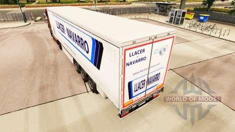 Pele Llacer y Navarro em uma cortina semi-reboqu para Euro Truck Simulator 2