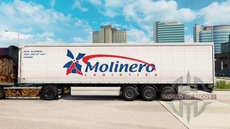 Pele Molinero Logistica em uma cortina semi-rebo para Euro Truck Simulator 2
