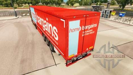 Pele de Casa Negócios em cortina semi-reboque para Euro Truck Simulator 2
