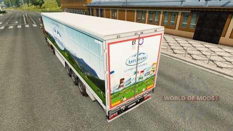 Pele Asturiana em uma cortina semi-reboque para Euro Truck Simulator 2