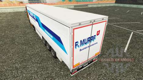 Pele F. Murpf AG em uma cortina semi-reboque para Euro Truck Simulator 2