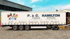 Pele P.&C. Hamilton em uma cortina semi-reboque para Euro Truck Simulator 2