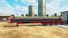 Semi-reboque com uma carga de tubos de água para Euro Truck Simulator 2