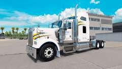 Pele Walmart no caminhão Kenworth W900 para American Truck Simulator