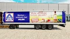 Pele Aldi Markt v2 em uma cortina semi-reboque para Euro Truck Simulator 2