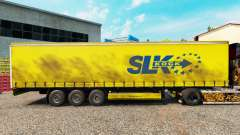 Pele SLK Kock GmbH em uma cortina semi-reboque para Euro Truck Simulator 2