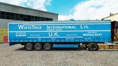 Pele Branca Trux em uma cortina semi-reboque para Euro Truck Simulator 2