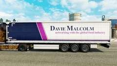 Pele Davie Malcolm em uma cortina semi-reboque para Euro Truck Simulator 2