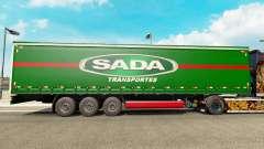 SADA Transportes pele para engate de reboque cortina para Euro Truck Simulator 2