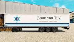 Pele Bram van Tuyl em uma cortina semi-reboque para Euro Truck Simulator 2