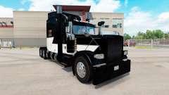 Pele Branca Z Listra no caminhão Peterbilt 389 para American Truck Simulator