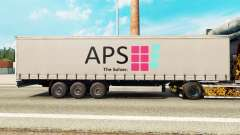 Pele APS em uma cortina semi-reboque para Euro Truck Simulator 2