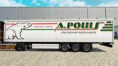 Pele A. Pouls em uma cortina semi-reboque para Euro Truck Simulator 2