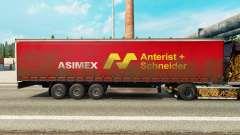 Pele Asimex em uma cortina semi-reboque para Euro Truck Simulator 2