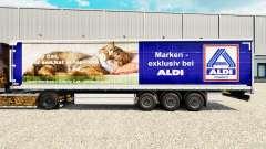 Pele Aldi Markt para cortina semi-reboque para Euro Truck Simulator 2