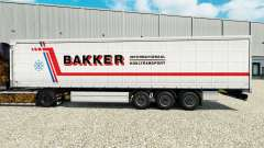 Pele Bakker em uma cortina semi-reboque para Euro Truck Simulator 2