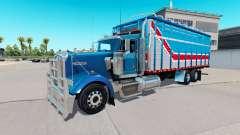 O corpo de van tipo de Kenworth W900 para American Truck Simulator