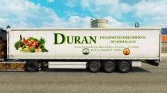 Pele Duran em uma cortina semi-reboque para Euro Truck Simulator 2