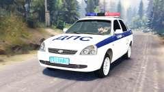LADA Priora Police DPS (VAZ-2170) para Spin Tires