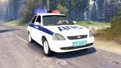 LADA Priora Polícia DPS (VAZ-2170) v2.0 para Spin Tires