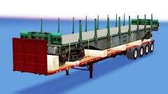 Uma coleção de trailers com diferentes cargas v4.0 para American Truck Simulator