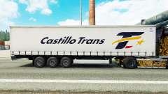 Pele Castillo Trans em uma cortina semi-reboque para Euro Truck Simulator 2